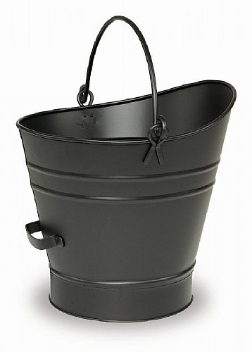 Minuteman C-65MC Coal Hod - Pellet Bucket with Scoop - Powder Coated Black