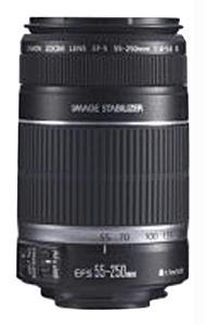CANON 2044B002 EF-S 55-250MM F 4-5.6 IS IMAGE STABILIZER TELEPHOTO ZOOM LENS