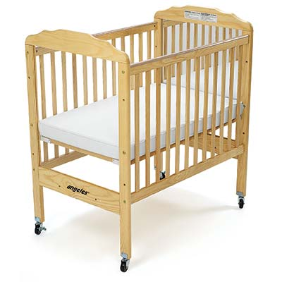 Angeles EL7010 Compact Adj Fixed Crib-Clear Panel