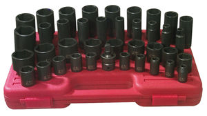 SUNEX TOOLS 2668 39 Piece .5 Inch Drive Deep And Shallow Sae Impact Socket Set