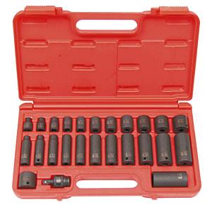 SUNEX TOOLS 3325 25 Piece .425 Inch Drive Master Impact Socket Set