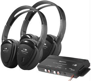 POWER ACOUSTIK HP-902RFT 2 SWIVEL EAR PAD  2-CHANNEL RF 900 MHZ WIRELESS HEADPHONES with TRANSMITT