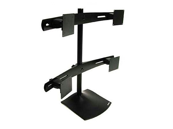ERGOTRON 33-324-200 Quad-Monitor Desk Stand - Black