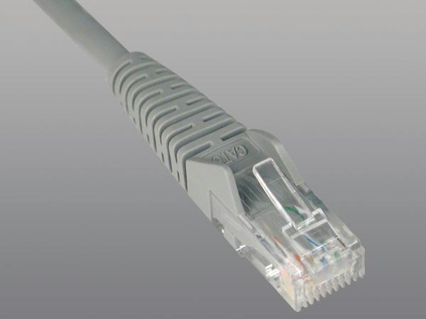 1ft Cat6 Gigabit Gray Snagless Patch