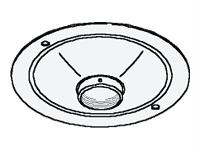 PEERLESS INDUSTRIES ACC570 150 lb Peerless Round Structural Ceiling Plate - Steel