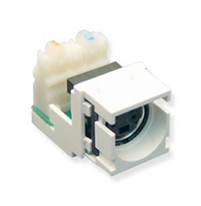 ICC IC107SVIWH S-Video IDC Module Inserts - White