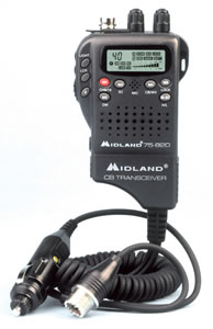 MIDLAND RADIO MID-75-822 Handheld Mobile CB with Adapter