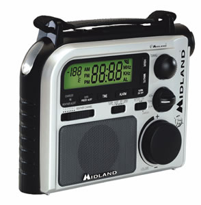 MIDLAND RADIO MIDER102 Emergency Crank Weather Alert Radio