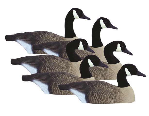 Higdon Decoys 77969 Standard Size Half Shell Goose - Canada - 6 Pack