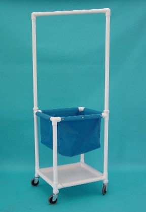 IPU LH311 Laundry Hamper with Hanging Bar & Shelf