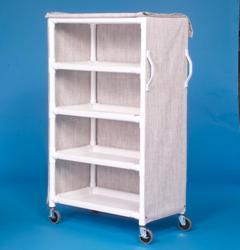 IPU LC46-4 4 Shelf Linen Cart - 46 x 20 Inch Shelves - Replaces LC304