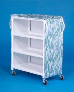 IPU LC46-3 3 Shelf Linen Cart - 46 x 20 Inch Shelves - Replaces ELC33 & LC303