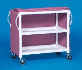 IPU LC46-2 2 Shelf Linen Cart - 46 x 20 Inch Shelves - Replaces ELC32 & LC302