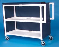IPU LC242 Jumbo Linen Cart - Two Shelves