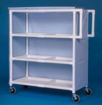 IPU LC243 Jumbo Linen Cart - Three Shelves