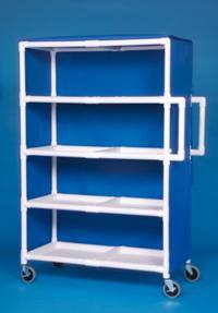 IPU LC244 Jumbo Linen Cart - Four Shelves