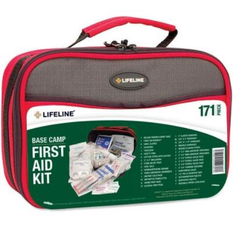 Life Line 4150 Lifeline Base Camp First Aid Kit - 171 Pieces  -Pack of 6