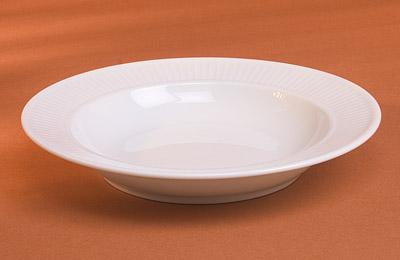 Pillivuyt 204222BL Plisse Soup Plate - 8.5 Inch  8 oz. PLLV075