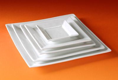 Pillivuyt 214025BL Quartet Square Plate 250 - 10 Inch