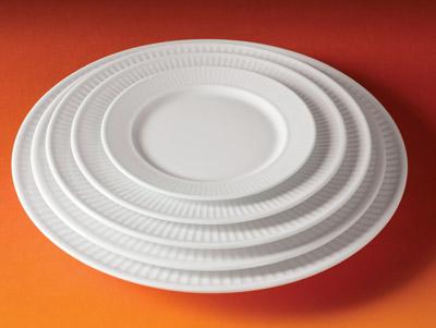 Pillivuyt 214222BL Plisse Plate - 8.5 Inch PLLV100