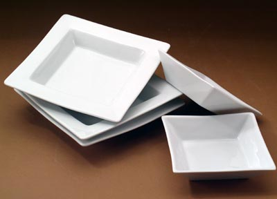 Pillivuyt 244014BL Quartet Square Bowl Without Rim - 5.5 Inch