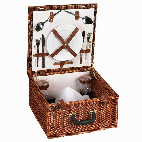 Home Essentials ML-2654 Willow Picnic Basket Service for 2
