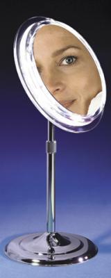 Zadro SA4 5 Pedestal Vanity Satin Nickel 5X Mirror