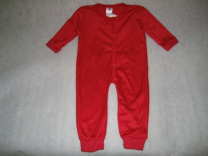Union Suits - Bell Ranger 380RD-XS Infant Union Suit Red - XSmall 0-3 Months