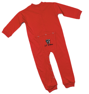 Union Suits - Bell Ranger LK380RD-S Infant Lil Stinker Union Suit Red - Small 3-6 Months