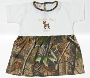 Toddler Dresses - Bell Ranger LK494-3T Toddler Daddy's Lil Deer Dress - All Purpose Green - 3T
