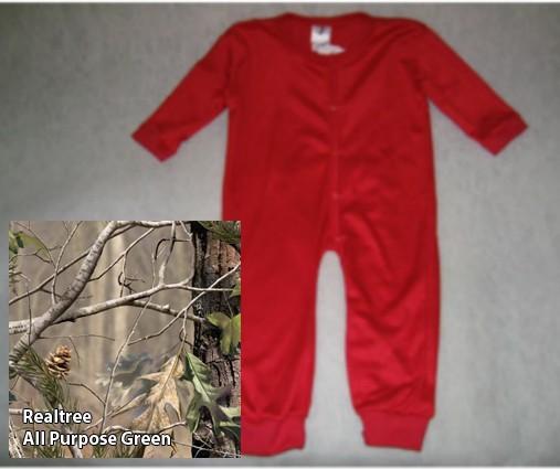 Union Suit - Bell Ranger 380APG-L Infant Union Suit - All Purpose Green - Large 12-18 Months