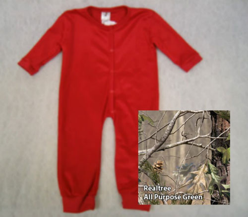 Union Suits - Bell Ranger 480APG-3T Toddler Union Suit All Purpose Green - Size 3T