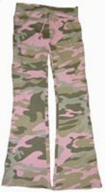 Camo Pants - Bell Ranger 6015PC-M Girls Lounge Pants- Pink Camo - Medium