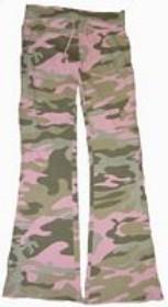 Camo Pants - Bell Ranger 6015PC-L Girls Lounge Pants- Pink Camo - Large
