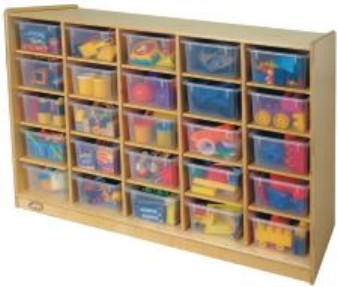 Childs Play R0048M Mobile 25 Cube Storage Unit Without Trays