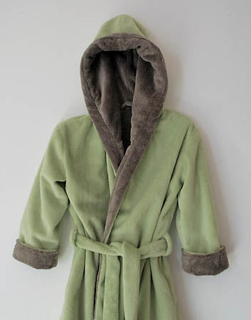 Women And Robe - Gustav Maxwell 303-8101 Women Reversible Robe - Sap Green/ Cinder Brown
