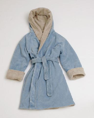 Women And Robe - Gustav Maxwell 308-8101 Women Reversible Robe - Sky Blue/ Birch
