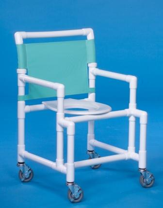 "IPU SC9200-MS Oversize Shower Chairs with Heavy-duty 5"" Casters"