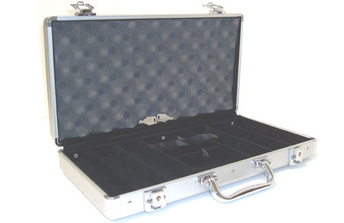 JP Commerce 300-CS 300pc Aluminum Poker Chip Case