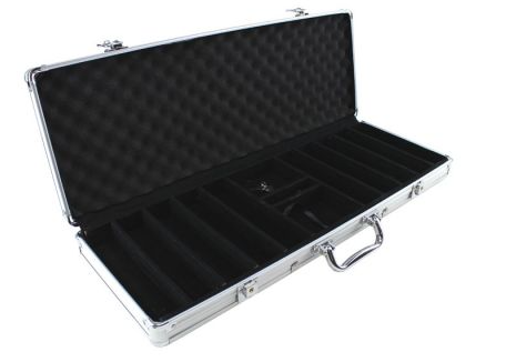 JP Commerce 500-CS 500pc Aluminum Poker Chip Case
