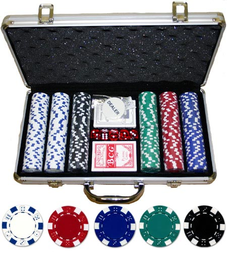 JP Commerce 300-DC 300 Piece 11.5 gram Dice Poker Set