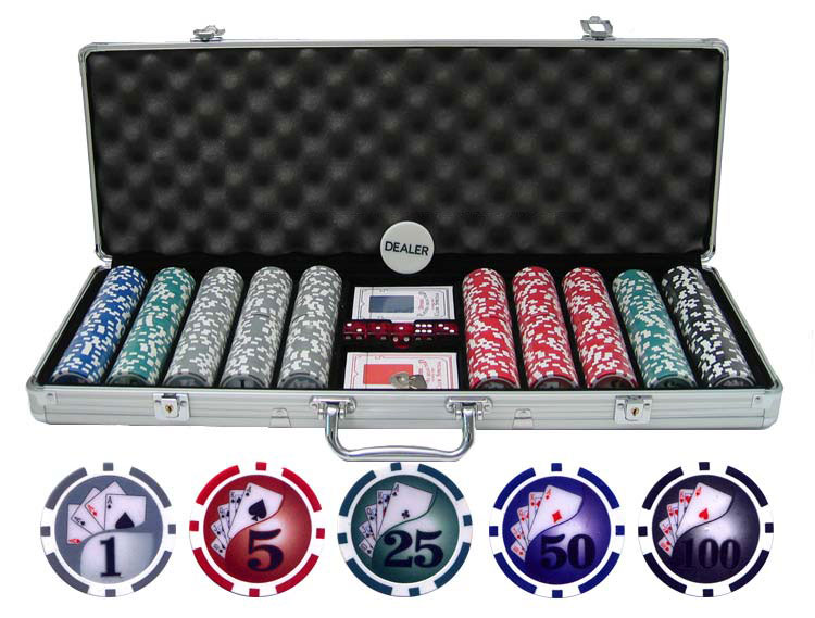 13.5g 500pc Yin Yang Clay Poker Chip Set