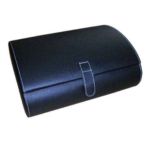 Mele & Co. 0068411M Faux Leather Watch Case in Black