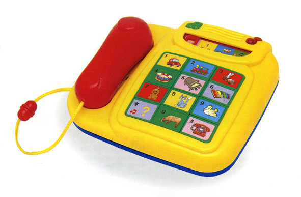 Megcos 1277 Plastic Interactive Musical Phone - Yellow MID0S094