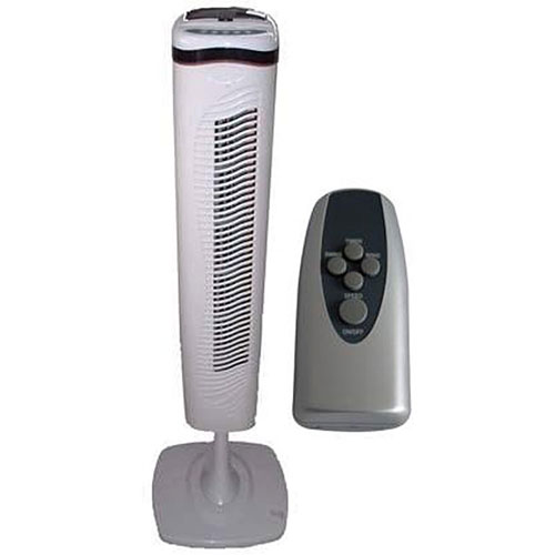 Optimus F-7336 40 Inch Pedestal Tower Fan with Remote Control and LED
