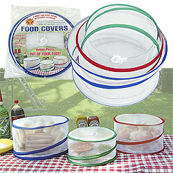 Set of 3 Pop Up Outdoor Food Covers - As Seen on TV