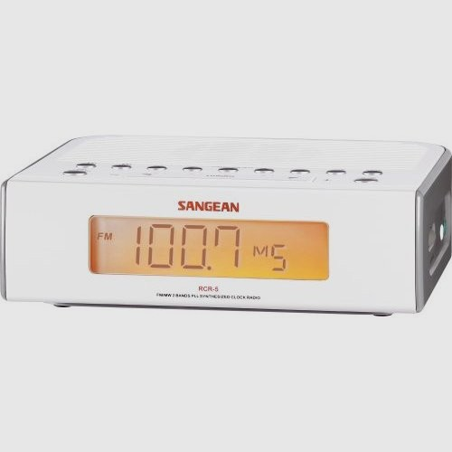 Sangean RCR-5 Clock Radio with Aux-in