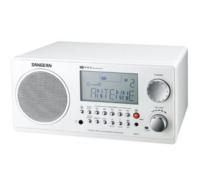 Image of Sangean WR-2WH Digital AM-FM Wooden Cabinet Table-Top Radio