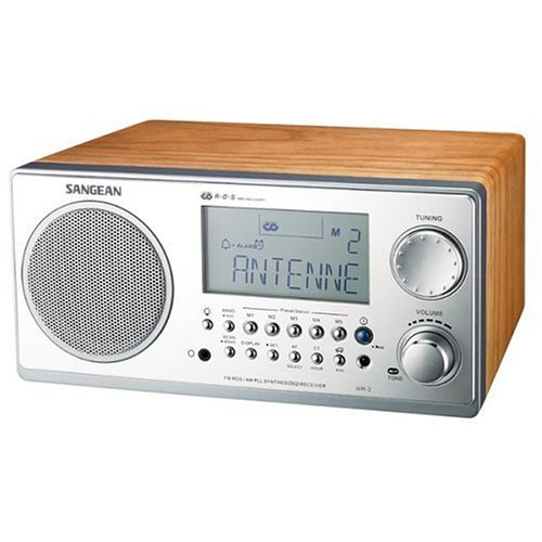 Image of Sangean WR-2WL Digital AM/FM Wooden Cabinet Table-Top Radio