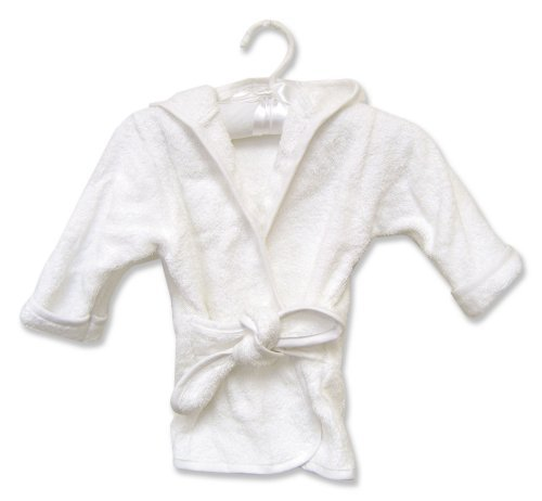 Terry Robe - Trend Lab 100054 TERRY INFANT ROBE WHITE